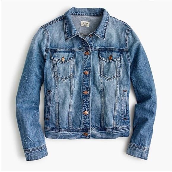 JCREW Classic Denim Jacket in Light Patriot Wash - Size XS